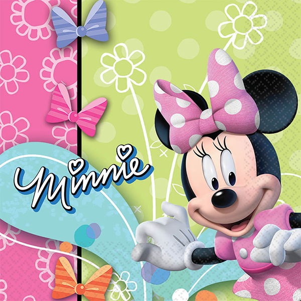 DISCONTINUED MINNIE MOUSE LUNCH NAPKIN PARTY SUPPLIES