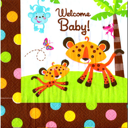 Click For Larger Picture Of FISHER PRICE BABY LUNCHEON NAPKIN PARTY SUPPLIES
