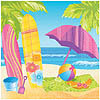 DISCONTINUED SURFS UP LUNCHEON NAPKIN PARTY SUPPLIES