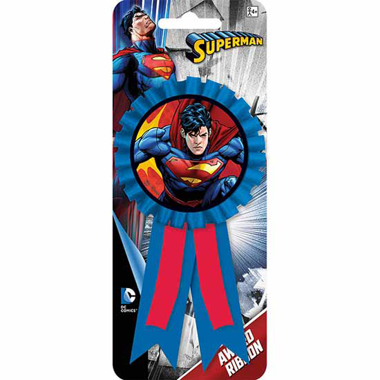 SUPERMAN GUEST OF HONOR RIBBON PARTY SUPPLIES