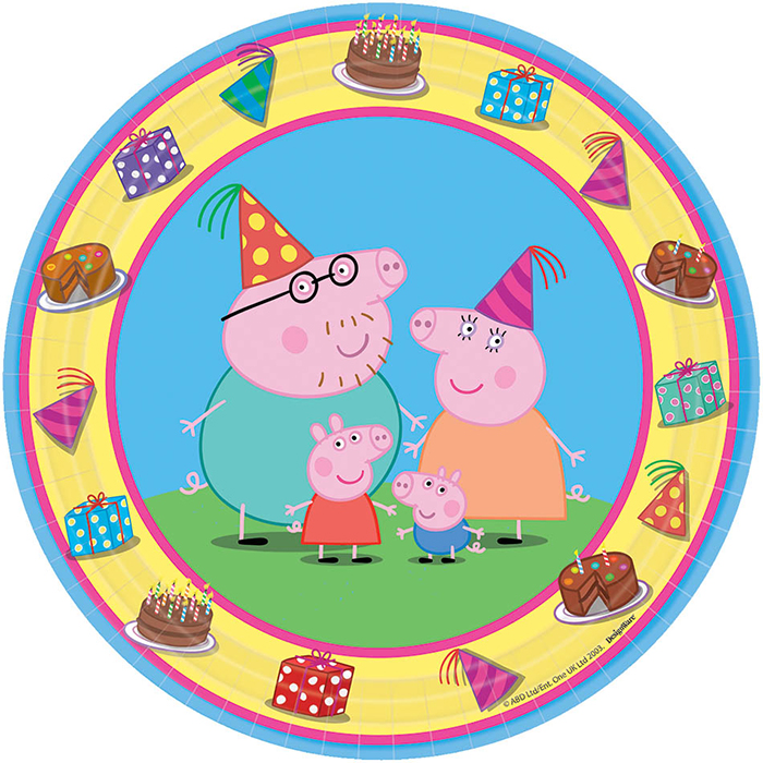 PEPPA PIG DESSERT PLATE PARTY SUPPLIES