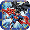 JUSTICE LEAGUE DESSERT PLATE PARTY SUPPLIES