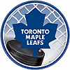 DISCONTINUED MAPLE LEAFS DESSERT PLATE PARTY SUPPLIES