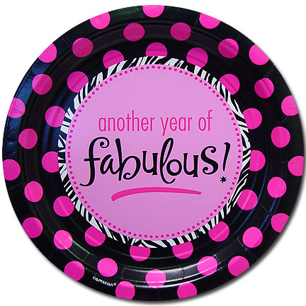 Click for larger picture of BIRTHDAY FABULOUS DESSERT PLATE (7