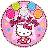DISCONTINUED HELLO KITTY BLN DESSERT PLT PARTY SUPPLIES