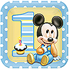 MICKEY 1ST BIRTHDAY DINNER PLATE PARTY SUPPLIES