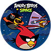 DISCONTINUED ANGRY BIRDS SPACE DINNR PLT PARTY SUPPLIES