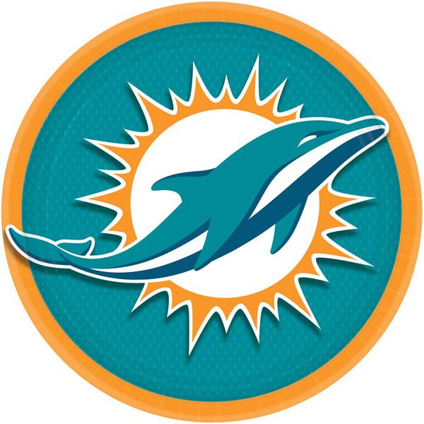 miami dolphins party supplies - miami dolphins dinner plate