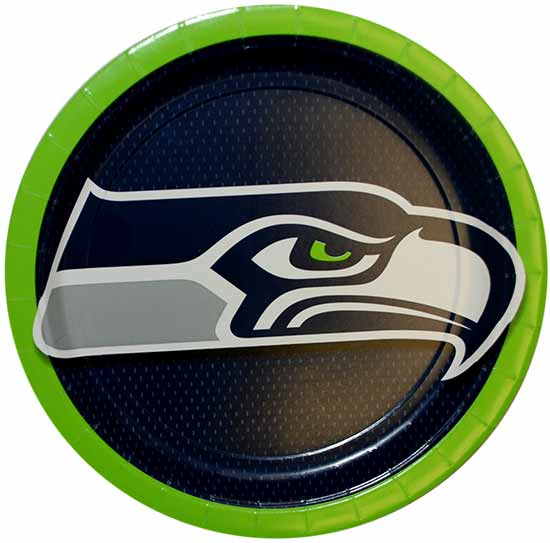 SEATTLE SEAHAWKS DINNER PLATE PARTY SUPPLIES