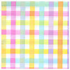 DISCONTINUED COLORFUL GINGHAM TABLECOVER PARTY SUPPLIES