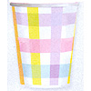 DISCONTINUED COLORFUL GINGHAM CUP PARTY SUPPLIES