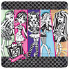 DISCONTINUED MONSTER HIGH BANQUET PLATE PARTY SUPPLIES