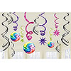 DISCO FEVER SWIRL DECORATIONS PARTY SUPPLIES