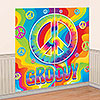 FEELING GROOVY WALL DECORATING KIT PARTY SUPPLIES