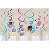 DOC MCSTUFFINS SWIRL HANGING DECORATIONS PARTY SUPPLIES
