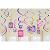 SOFIA THE FIRST SWIRL HANGING DECORATION PARTY SUPPLIES