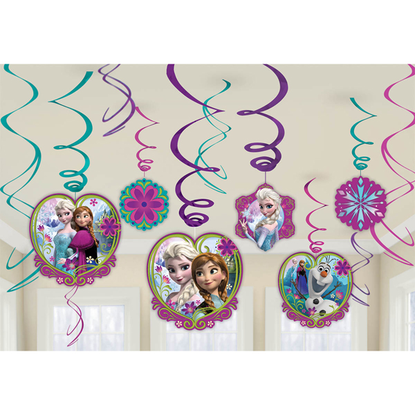 FROZEN SWIRL DECORATIONS 12/PKG (72/CS) PARTY SUPPLIES
