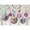 FROZEN SWIRL DECORATIONS 12/PKG PARTY SUPPLIES