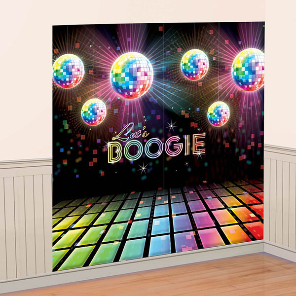 70s disco party decorations disco fever wall decorating kit for Decoration 70s party