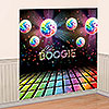 DISCO FEVER WALL DECORATING KIT PARTY SUPPLIES