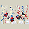 CAPTAIN AMERICA HANGING SWIRLS PARTY SUPPLIES