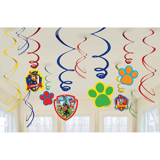 PAW PATROL SWIRL DECORATIONS PARTY SUPPLIES