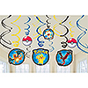 DISCONTINUED PIKACHU & FRND SWIRL DÉCOR PARTY SUPPLIES