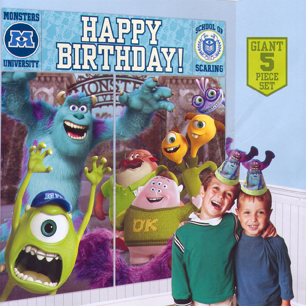 Click for larger picture of DISCONTINUED MONSTERS U WALL DECOR KIT PARTY SUPPLIES