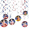 WWE HANGING SWIRL DECORATION PARTY SUPPLIES