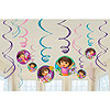 DORA THE EXPLORER SWIRL DÉCOR (72/CS) PARTY SUPPLIES