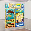 DISCONTINUED PHINEAS-FERB WALL DECOR KIT PARTY SUPPLIES
