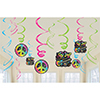 DISCONTINUED NEON BIRTHDAY SWIRL DÉCOR PARTY SUPPLIES