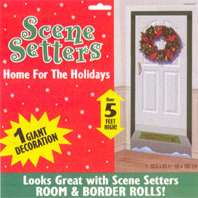DISCONTINUED HOME FOR HOLIDAYS SCENE SET PARTY SUPPLIES