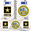 ARMY COMBO DANGLER DECORATION 3/PK PARTY SUPPLIES
