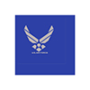 AIR FORCE SILVER WING BEVERAGE NAPKIN PARTY SUPPLIES
