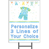 BABY BLUE CLOTHES YARD SIGN PARTY SUPPLIES