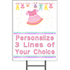 BABY PINK CLOTHES YARD SIGN PARTY SUPPLIES