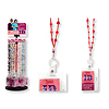 BEADED BADGE HOLDER RED PARTY SUPPLIES