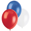 RED WHITE BLUE BALLOON COMBO (SOLID) PARTY SUPPLIES