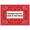 BANDANA CUSTOMIZED PLACEMAT PARTY SUPPLIES