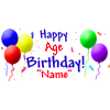 PERSONALIZED PRIMARY BALLOON  BANNER PARTY SUPPLIES