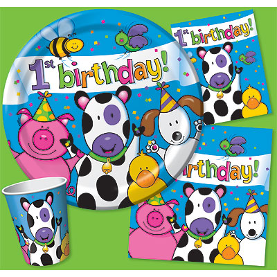 DISCONTINUED BARNYARD 1ST CELE BEV NAPKN PARTY SUPPLIES