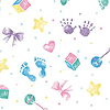 BABY HANDS CELLOPHANE BASKET BAG PARTY SUPPLIES