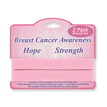 Click for larger picture of PINK RIBBON BREAST CANCER BAND BRACELETS PARTY SUPPLIES