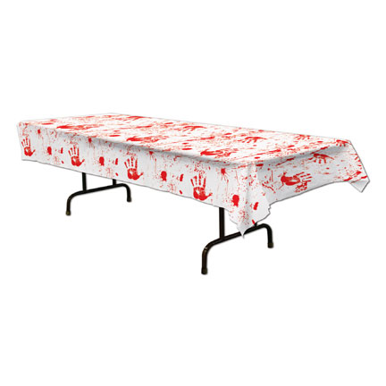 BLOODY HANDPRINTS TABLECOVER PARTY SUPPLIES