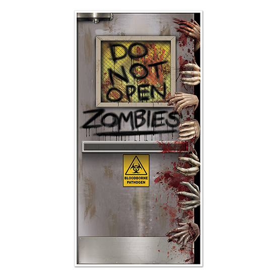ZOMBIES LAB DOOR COVER PARTY SUPPLIES