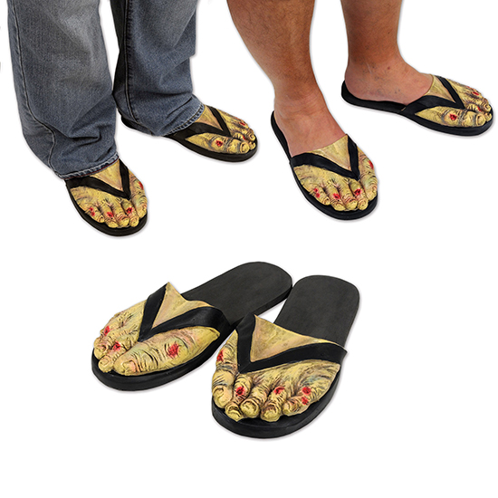 ZOMBIE FEET SLIPPERS (6/CS) PARTY SUPPLIES