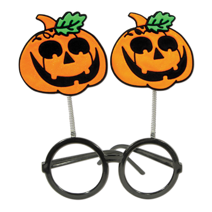 Click for larger picture of JACK-O-LANTERN BOPPER GLASSES PARTY SUPPLIES