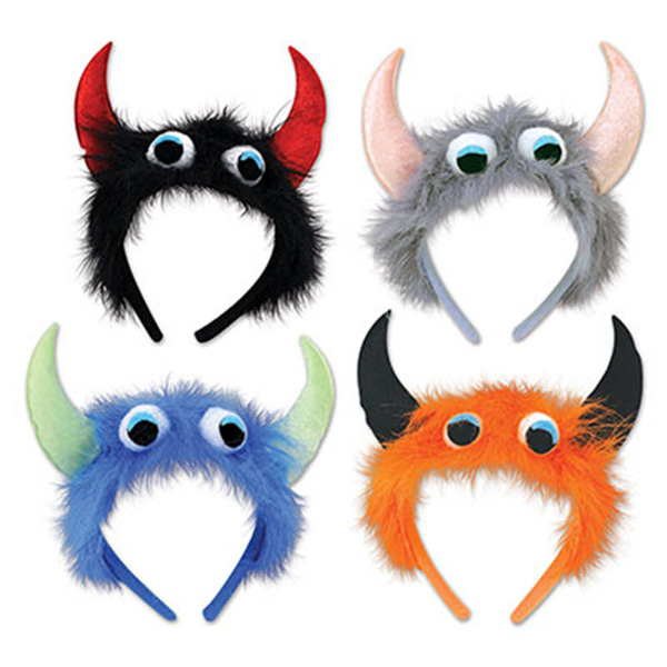 Click for larger picture of MONSTER HEADBANDS (12/CS) PARTY SUPPLIES