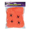 GIANT SPIDER WEB ORANGE (12/CS) PARTY SUPPLIES